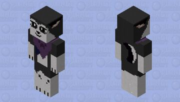wolf with bandanna (black and white) Minecraft Skin