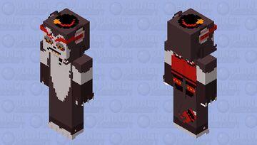 Husk the Avian Cat Demon | Hazbin Hotel Minecraft Skin