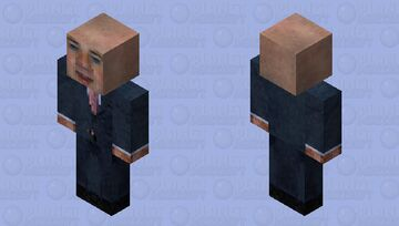 Bald Suit Man Minecraft Skin