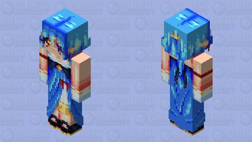 .;* the waves belong to me *;. Minecraft Skin