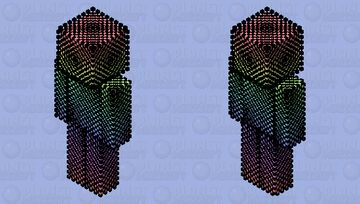 _-=: Rainbow Mess Part 2 :=-_ (First Attempt At A HD Skin!) Minecraft Skin
