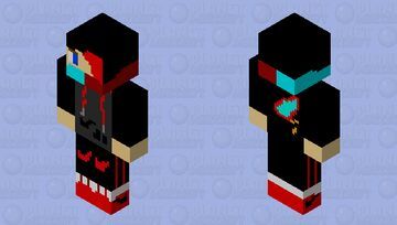 Nike Cool Boy with Flame Hoodie Minecraft Skin