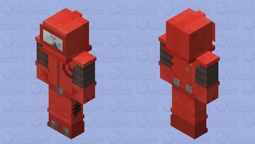 Among Us Imposter Red Minecraft Skin
