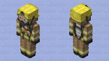 Firefighter - Better in 3D Minecraft Skin
