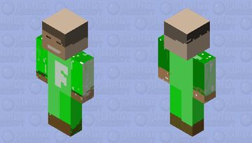 RIPOFF OF FUSION DROID! AND HES BALD AT THE TOP! Minecraft Skin