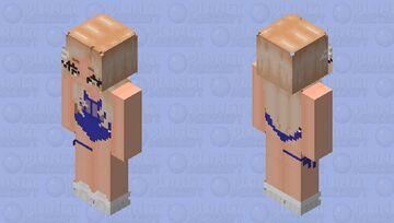 Royal Blue Bodysuit & Curled ends. Minecraft Skin