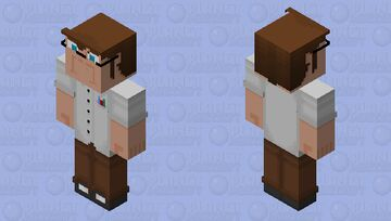 The Angry Video Game Nerd Minecraft Skin