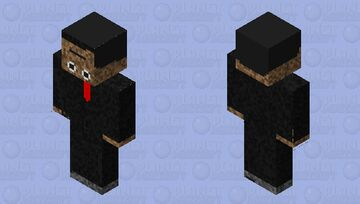 Man with the upside down face Minecraft Skin