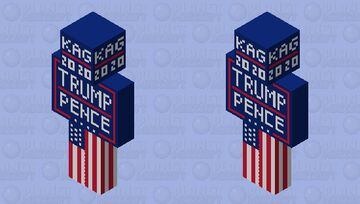 KAG 2020 | Trump/Pence Minecraft Skin
