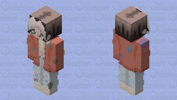 windy indie / cute / orange / patches Minecraft Skin