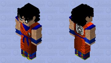 Son Goku Early HD Minecraft Skin