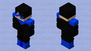 nightwing Dick Grayson V2 skin 128x128 Minecraft Skin