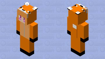 Fox Onesie (Simple) Minecraft Skin