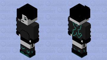 Humanized Nightmare Sans| Sassy Nighty Minecraft Skin