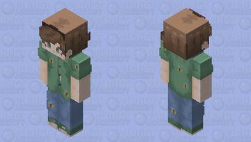 tubbo / tommyinnit / dreamSMP / green / blue / brown Minecraft Skin