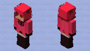 Alastor swapped with Angel Dust (v2) Minecraft Skin