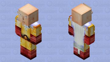 Saitama - One Punch Man [HD Bedrock Skin] Minecraft Skin