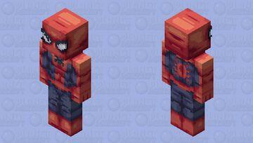 Peter Parker Spider-Man w/ Unmasked version! 128x128 (will add alternate expressions soon) Minecraft Skin