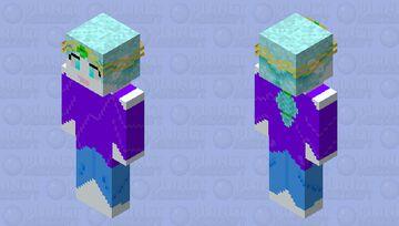 Mahō no tsuki (moon elf) Minecraft Skin