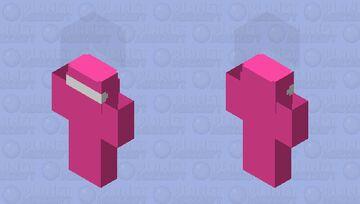Bedrock Among Us (pink) Minecraft Skin