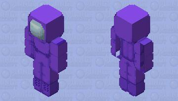 Among us purple Minecraft Skin