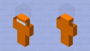 Bedrock Among Us (orange) Minecraft Skin