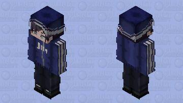 quackity / dream smp / youtuber / beanie / blue / jacket Minecraft Skin