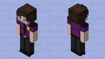William Afton/Dave Miller (security uniform) 1980s Minecraft Skin