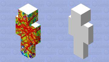 Rainbow Rage Minecraft Skin