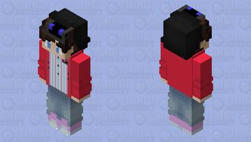 90s-80s Pug`s Diner Outfit Minecraft Skin