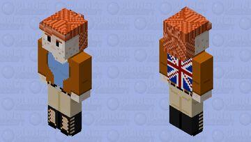 Frithua Islywn Patriotic 128x128 OC Minecraft Skin