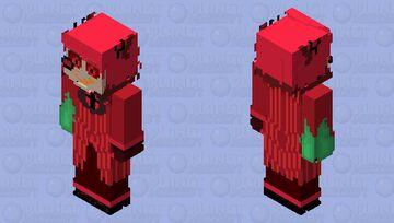 fire in right hand Minecraft Skin