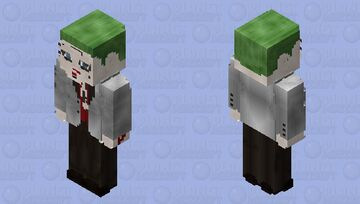 The Joker (Silver Jacket): Suicide Squad Minecraft Skin