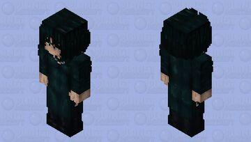 Fubuki (Blizzard of Hell) One Punch Man HD Bedrock skin Minecraft Skin