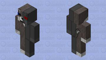 Half Brown Wolf Half robot Wolf 2 Minecraft Skin