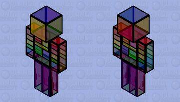 Stained glass man Minecraft Skin
