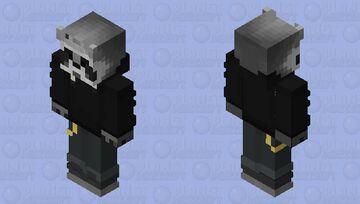 Raccoon Blackout Minecraft Skin
