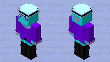 Angel Dust (Neon/Alastor's Reprise) Minecraft Skin