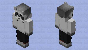 Raccoon White Milk Minecraft Skin