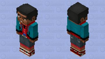 "Miles Morales - ""Normal Clothes"" (Into the Spider-Verse) (Better in 3D, trust me.) Minecraft Skin"