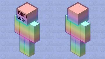 rainbow halo template Minecraft Skin