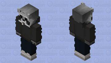 Raccoon Charcoal Grey Minecraft Skin