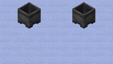 empty cauldron Minecraft Skin