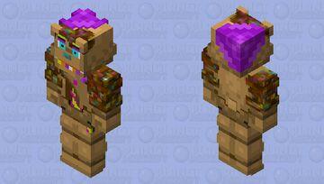 HD Chocolate Freddy Minecraft Skin