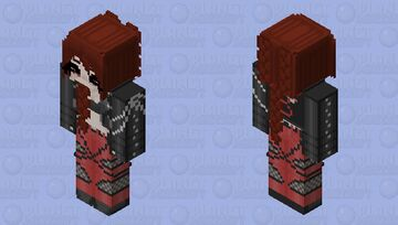 Badgirl Blossom HD Minecraft Skin