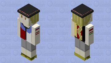 Frieda Radosława Patriotic 128x128 OC Minecraft Skin