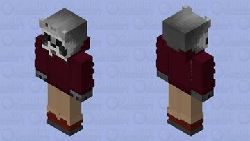 Raccoon Classic Wine Minecraft Skin