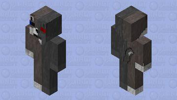 Half Robot Brown Wolf Minecraft Skin