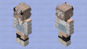 Cute White Demon Girl Minecraft Skin