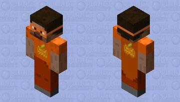 Pumpkin themed Captain Steve (my persona) with a better Jack 'o' Lantern design. Minecraft Skin
